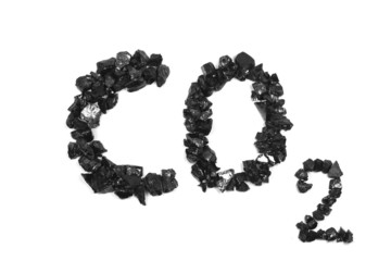 chemical formula of carbon dioxide from coal pieces