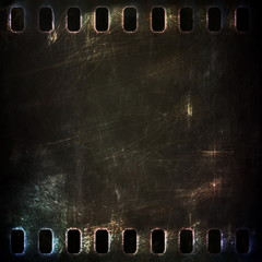 dark metal rusty grunge film strip background