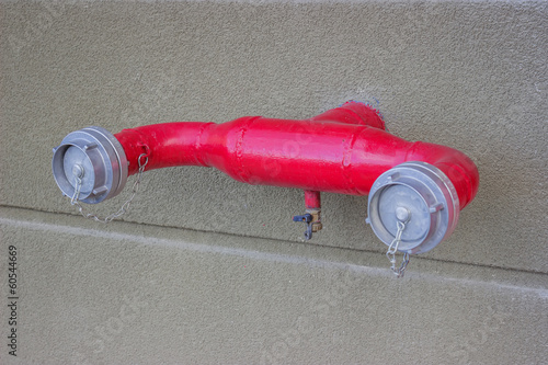 fire hydrant with water hoses fixed