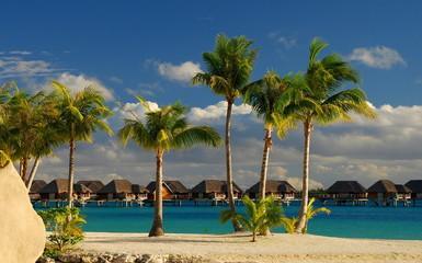 Overwater bungalows. Bora Bora, French Polynesia