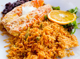 Enchilada with tomato rice