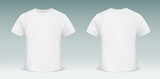 Blank t-shirt template. Front and back side