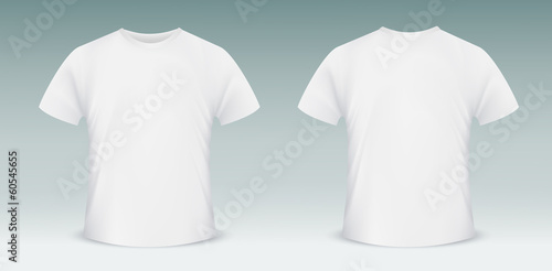 Blank t-shirt template. Front and back side - 60545655