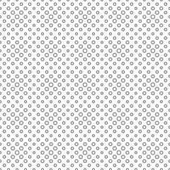 Seamless pattern of black empty circles
