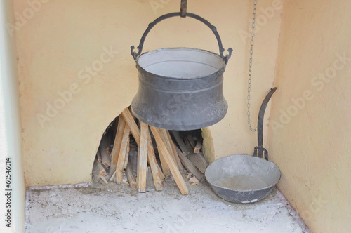 Ancient Bulgarian nook for prepare household bread and dish