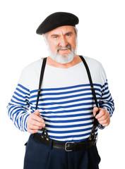 Handsome funny old guy