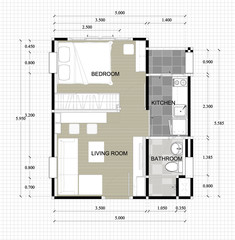 lay-out plan of interior residence
