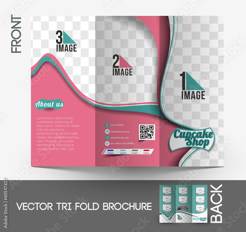 Cup Cake Shop Brochure Design