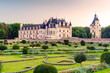 Leinwanddruck Bild - The Chateau de Chenonceau at sunset, France
