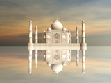 Taj Mahal mausoleum, Agra, India - 3D render