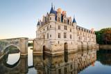 The Chateau de Chenonceau at sunset, France