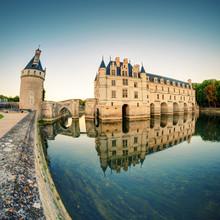 Le Château de Chenonceau au coucher du soleil, France