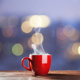 Steaming cup of coffee - Fine Art prints