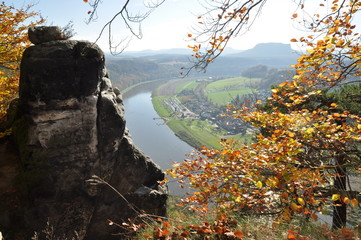 Blick vom Basteifelsen