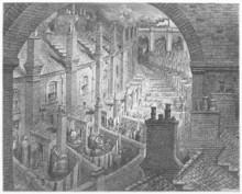 Au cours de Londres en train - Londres Gustave Dore: un pèlerinage