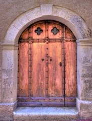 vieille porte en bois - hdr