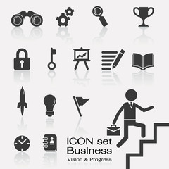 Business vision in progress icon