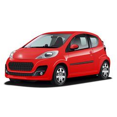 Hyper realistic red car
