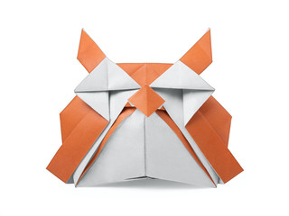 Origami old paper owl