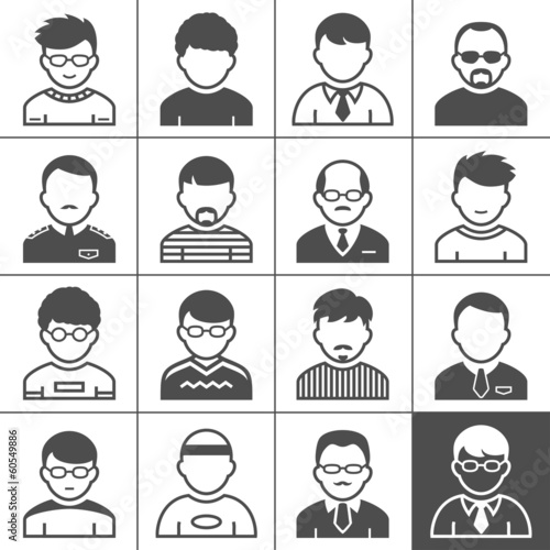 Men users icons