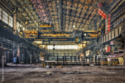 Hall of a disused metalworking plant
