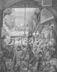 Billingsgate, early morning - Dore's London: a Pilgrimage