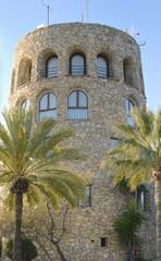 Watch tower in Puerto  Banus, Marbella, Spain