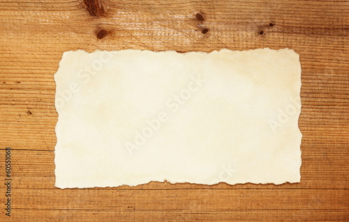 vintage blank on rustic wooden background