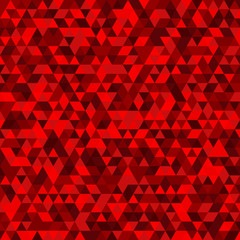 Abstract mosaic background consisting of red triangles