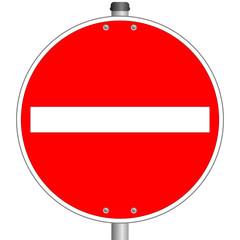 Einfahrt verboten Schild  #140121-svg05
