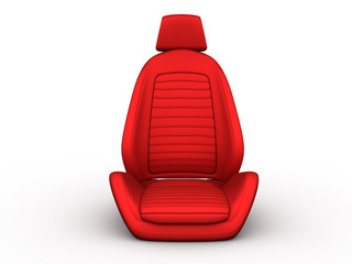 Front red car seat