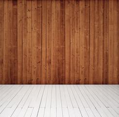 wood wall and floor