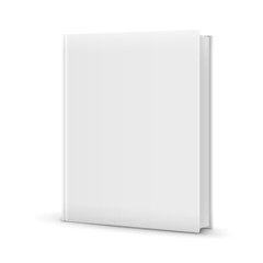Blank White Standing Book Template.