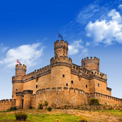 Castle  Manzanares el Real, Madrid ,Spain