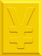 Yen on gold plate