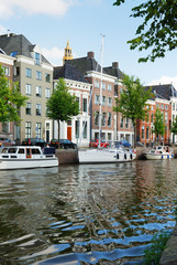 Dutch town with an inner canal