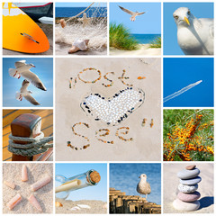 Collage mit Ostsee-Motiven