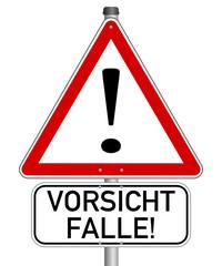 Vorsicht Achtung Gefahr Falle #140121-svg20