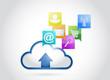 cloud applications concept illustration design