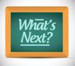 whats next message illustration design