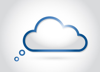 cloud computing. thinking concept illustration