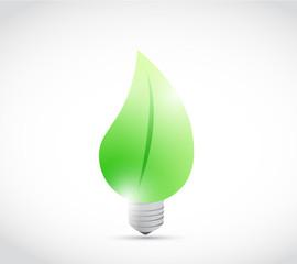 leave eco light bulb illustration design