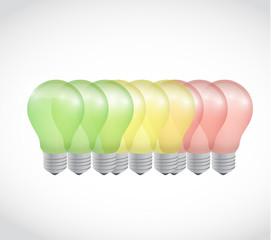 energy battery light bulb illustration design
