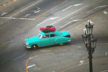 HAVANA, CUBA - JUNE 26: Vintage cars on the streets of Havana, J