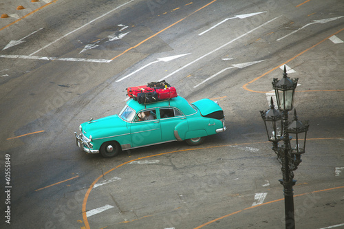 HAVANA, CUBA - JUNE 26: Vintage cars on the streets of Havana, J