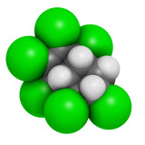 Chlordane banned pesticide molecule. Highly toxic.