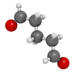 Glutaraldehyde (glutaral) disinfectant molecule.