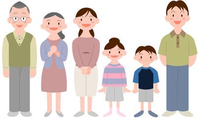 三世代家族6人