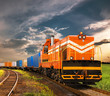 Leinwanddruck Bild - freight train