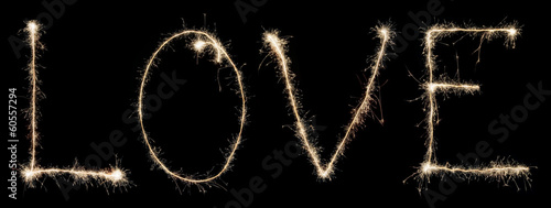 word love from sparkler